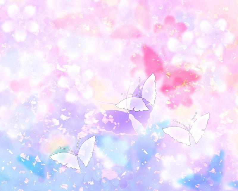 Flowers-and-Butterflies-clipart-desktop-theme-Wallpaper