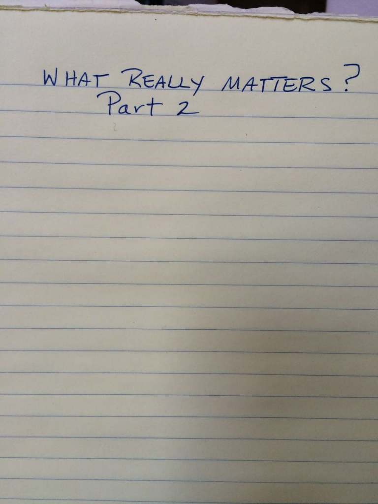What matters 2
